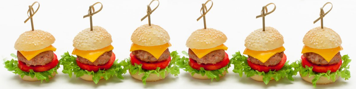Fingerfood Miniburger Messecatering