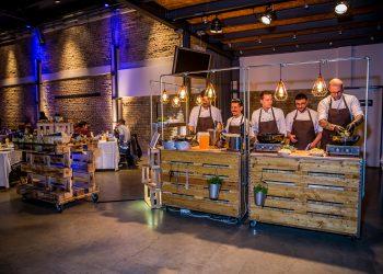Büffetelemente industrila design Kochwerkstatt Catering