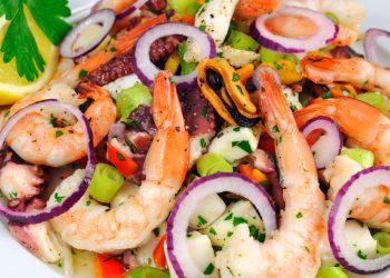Meeresfrüchte Salat Kochwerkstatt Wiesbaden